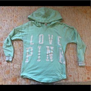 Victoria Secret pink hooded sweatshirt x small XS